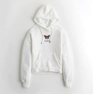 A hollister white monarch butterfly hoodie$26